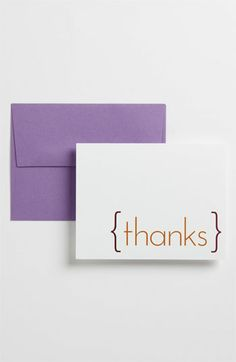 Never underestimate a hand-written Thank You card. Especially a lovely one that's letterpressed.