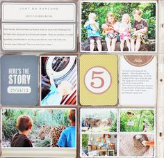 #ProjectLife layout using #VintageTravel @Michaels Stores exclusive edition