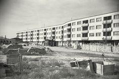 Warszawa - budowa osiedla Koło-Wschód (Koło-WSM) na Woli wg projektu Heleny i Szymona Syrkusów (maj 1948)