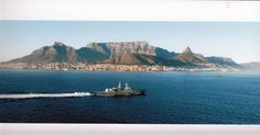 The very first Naval vessel to  arrive in Cape Town Harbour from Germany as part of the controversial arms deal