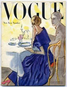 British Vogue January 1948 René Bouché, Picasso, André Derain Vintage high fashion magazine