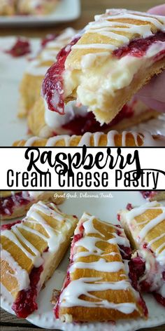 Cream Cheese Pastry is a delicious pastry filled with cream cheese and raspberries. Desserts Raspberry Cream Cheese PastryRaspberry Cream Cheese Pastry is a delicious pastry filled with cream cheese and raspberries. Raspberry Pastry Recipes, Puff Pastry Desserts, Raspberry Desserts, Puff Pastry Recipes, Pastries Recipes, Raspberry Sauce, Raspberry Danish Recipe, Raspberry Cream Pies, Savory Pastry