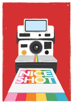 polaroid camera art print, my retronest