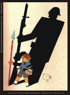 L'italiano nuovo - letture della seconda classe elementare -1930 / The new Italian - readings of the second grade