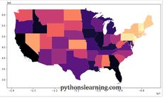 How to plot an US map using python | pythonslearning Open Source Projects, United States Map, Us Map, Map Of Usa