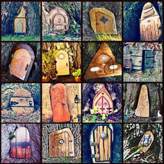 Make Your Own Fairy Door | door check out this mosaic of doors we ve created for some inspiration ...