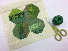 This fun little four leaf clover quilt block is a great way to use up some scraps and celebrate the luck of the Irish!