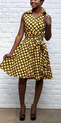 Midi Brown African Dress
