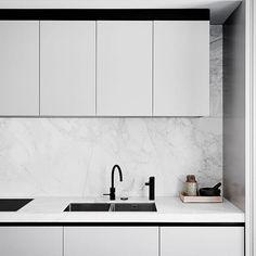 Kitchen - East Melbourne #flackstudio #eastmelbourneresidencebyflackstudio  @brookeholm @marshagolemac Built by @ashwooddesignptyltd and @ivoidb