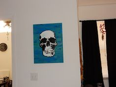 Sherlock's Skull room decor; Kelsey's Craft Corner