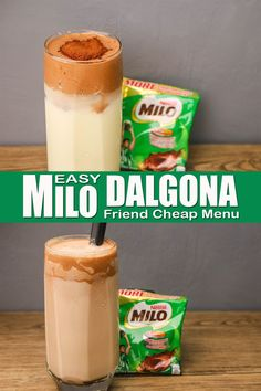 How To Make Milo Dalgona Without Mixer ( Using Wire Whisk ) Easy Milo Dalgona Recipe Using Wire Whisk, But you can also use dinner Fork and Electric Mixer. Milo Dalgona is made of Milo (Chocolate Powdered Milk) , Sugar and All Purpose Cream added with fresh milk and Ice. #howtomakemilodalgona #milodalgona #dalgona Wire Whisk, Easy To Make Desserts, Chocolate Powder, Electric Mixer, Desserts Menu, Dinner Fork, Fresh Milk, Powdered Milk, Refreshing Drinks