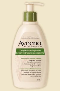 AVEENO® DAILY MOISTURIZING LOTION - Body Care Moisturizers  ***Checked and added Oct 23/13 - please check before purchasing as formulas change