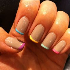 love this new take on the French Manicure! Great spring colors against my favorite camel.