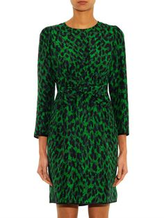 Marc Jacobs Leopard-print bow-front dress #MATCHESFASHION