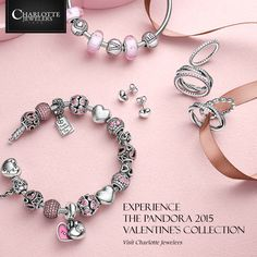 Experience the new #PANDORA 2015 Valentine's Collection. Visit http://www.charlottejewelers.com