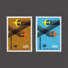 International Civil Aviation Organisation (Safety in the Air). United Nations, 1978. Design: Tomas Savrda. #graphilately #mnh #graphiunitednations
