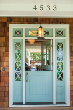 """2015 Mpls.St.Paul Magazine ASID MN Showcase Home - """"Front Door Paint Color"""" (Wythe Blue by Benjamin Moore)"""