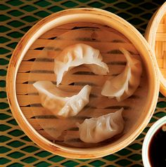 Har Gao (Shrimp Dumplings)  These delicious dumplings stuffed with minced shrimp, scallions, water chestnuts, and bamboo shoots are easy to make with store-bought gyoza (pot-sticker) wrappers
