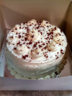 Red Velvet cake with cream cheese icing created by Alicia @ Phat N Sassy Sweets