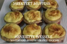 Picture Mini Apple Tarts, South African Recipes, Ethnic Recipes, Muffin Pan Recipes, Milk Tart, Cake Recipes, Dessert Recipes, Homemade Dinner Rolls, Muffins