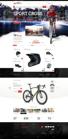 Private project. Online shop mostly for bikers. Main cover photo - 2000 px width. Project is available for purchase. #bikers #bike #sport #webdesign #website #visual #photomontage #shop #cyclist #city