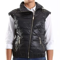 Gilet con borchie sulle spalle Yes Zee - € 84,80   Nico.it - #jackets #fashion #winterfashion