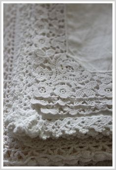 Love this vintage lace.