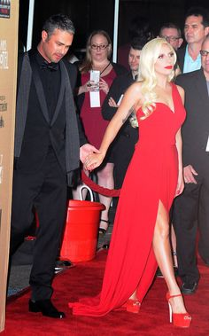 Lady Gaga and Taylor Kinney's Love Sizzles at the American Horror Story Premiere: Lady Gaga and Taylor Kinney had the look of love on Saturday when they hit the carpet for the premiere of American Horror Story: Hotel in LA.