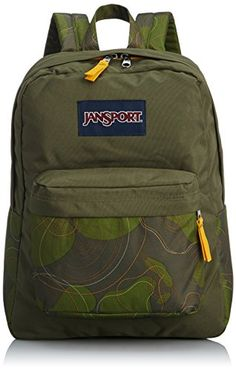 JanSport Superbreak Backpack  Green Machine Topo Camo  167H x 13W x 85D >>> Read more  at the image link.