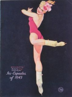 1945 PETTY GIRL Orcadette Ice Capades Skater Illustrated Program US War Bonds