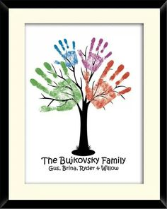 Family hand tree, other things may change us but we start and end with family