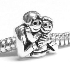 650165f99 Sterling Silver My Baby Daddy's Little girl family Bead For Pandora  Chamilia Baigi Troll European Story