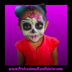 Who knew Skeletons could be so beautiful!  With a face as adorable as this, she was already a work of art.   Face painting to any theme or at the request of each guest.  We love to pARTy with you!  www.ProfessionalFacePainter.com  Serving all of Southern California and more!