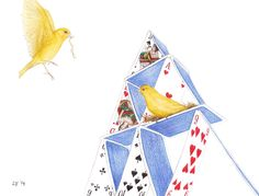A House of Cards by Lars Furtwaengler   Colored Pencil   2014