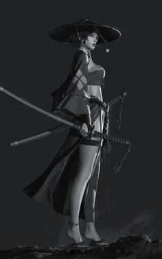 "thecollectibles: ""Sculpt by LIU HAO ""(based on concept by Z. Ronin Samurai, Female Samurai, Fantasy Character Design, Character Design Inspiration, Character Art, Arte Ninja, Ninja Art, Chica Fantasy, Fantasy Girl"