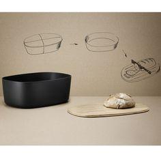 Der Brotkasten hält das Brot lange frisch. Zugleich bekommst du noch ein Schneidebrett dazu der als Deckel dient.