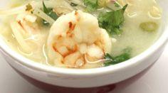 Soupe thaï aux crevettes & germes de soja