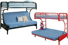 A Boomerang Twin Full Kids Metal Futon Bunk Bed Black from The Futon Shop is a nostalgic piece that is great for sleepovers. Futon Bunk Bed, Futon Couch, Futon Mattress, Metal Bunk Beds, Yellow Bedding, Black Bedding