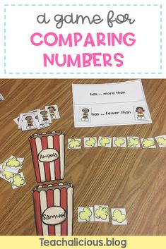 Build students numbers sense through these 4 games. Students in first grade and kindergarten grow their understanding of place value through number comparison with hands-on activities, building numbers to find greater than and less than. Perfect center ideas for number and operations in based 10.