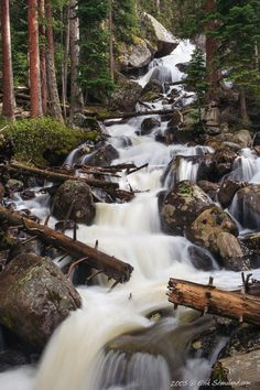 Calypso Cascade in the Wild Basin of the Rocky Mountain National Park, Colorado Venez profitez de la Réunion ! Colorado National Parks, Rocky Mountain National Park, Estes Park Colorado, Rocky Mountains, Places To Travel, Places To See, The Great Outdoors, State Parks, Beautiful Places