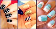striped nail art designs