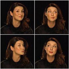 She is so adorable Claire Fraser, Jamie And Claire, Jamie Fraser, Caitriona Balfe Outlander, Sam Heughan Outlander, Outlander Casting, Outlander Tv Series, Outlander 2016, Diana Gabaldon