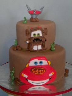 Cars themed birthday cake By Shannon1129 on CakeCentral.com