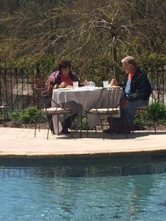 Wow  we where able to invite Lilburn local celebrities Doug and Doris Bryson  we felt honored to have them over on Mother's Day on fine Dinery table