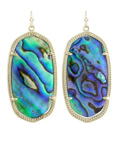 Danielle Earrings in Abalone Shell - Kendra Scott Jewelry #ksadventure #kendrascott