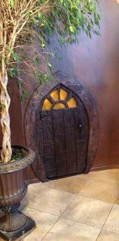 Hobbit hole storage closet. 21 DIY Ways To Make Your Child's Bedroom Magical