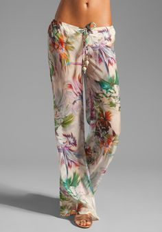 BEACH BUNNY Garden Party Pant in Tropical at Revolve Clothing - Free Shipping!