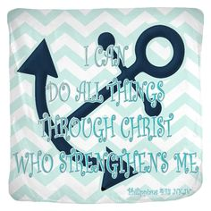 Coastal Style Jersey Blanket with Philippians 4:13