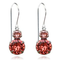 Coral & Peach Two Tier Drop Earrings - $19.80