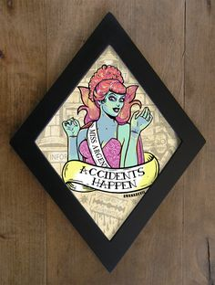 Miss Argentina from Beetlejuice Diamond framed print. EUR) by bwanadevilart Frankenstein, It's All Happening, Horror Decor, Goth Home, Gothic House, Tumblr, Fall Halloween, Artsy Fartsy, Painting Frames
